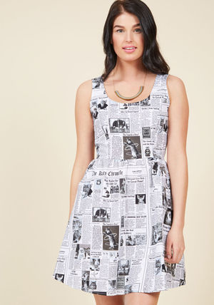 Animal Lover start spreading the mews a-line dress