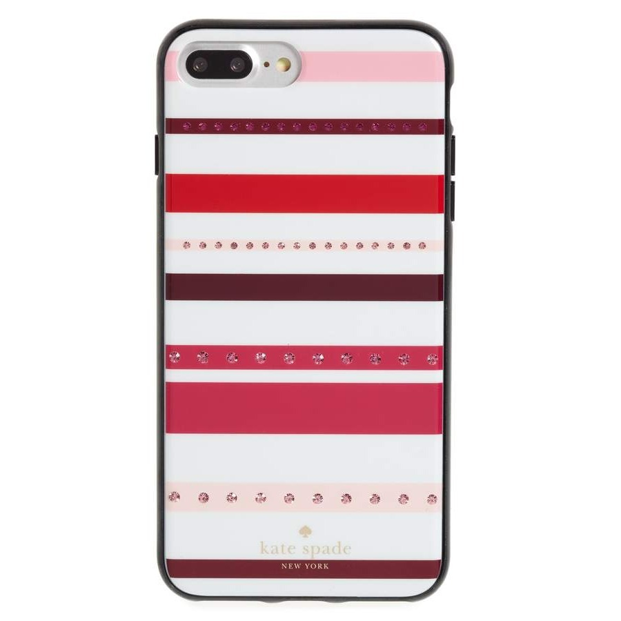 ケイトスペード jeweled stripe iPhone 8 & 8 Plus case