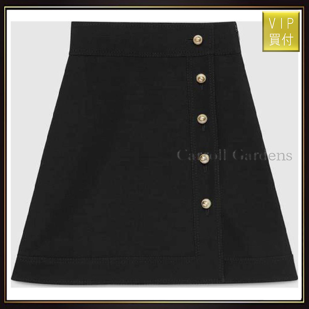 【グッチ】Wool Silk High Waist Skirt スカート