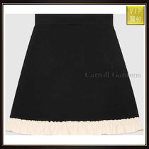 【グッチ】Silk Wool A Line Skirt スカート