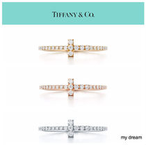 【Tiffany & Co】Tiffany T Wire Ring 18k Gold With Diamonds