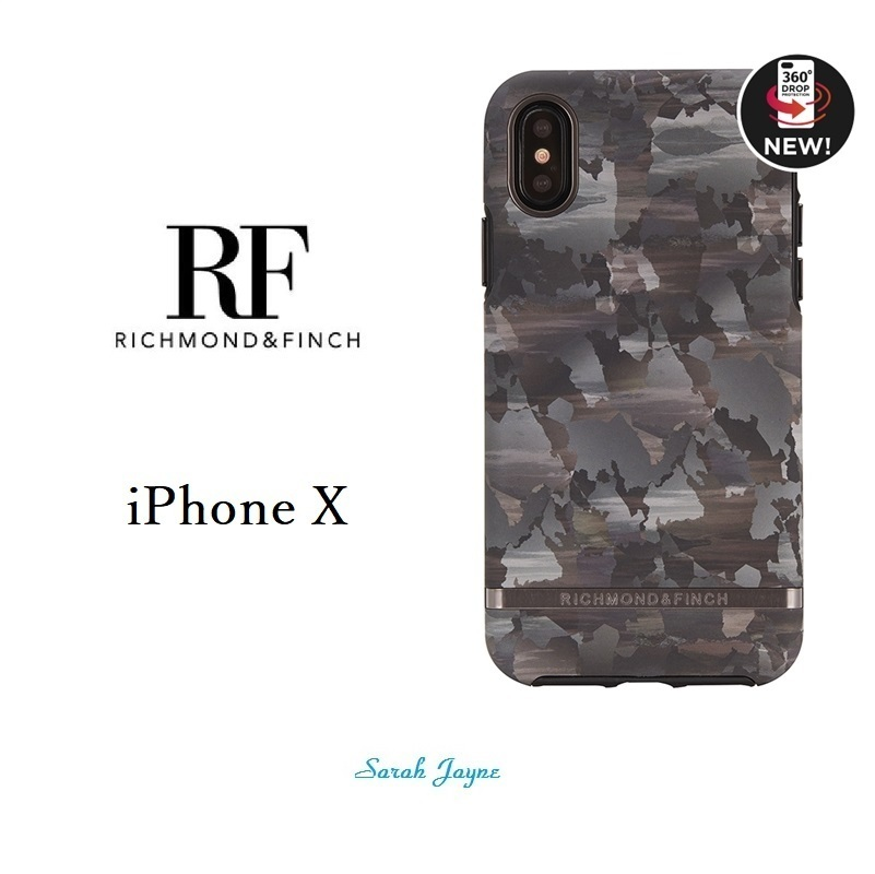RICHIMOND&FINCH☆ iPhoneケース ☆CAMOUFLAGE iPhoneX