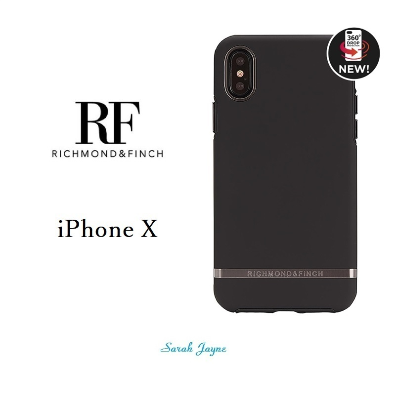 RICHIMOND&FINCH☆ iPhoneケース BLACK OUT iPhoneX