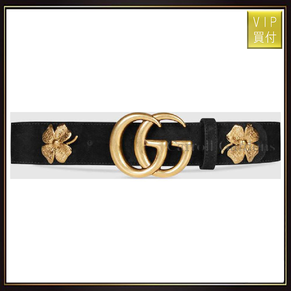 【グッチ】Clover Belt With Double G Buckle ベルト