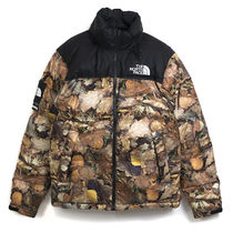 国内在庫 Supreme The North Face Nuptse Jacket Leaves M L