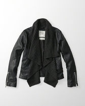 Drape Faux Leather Jacketはお勧め