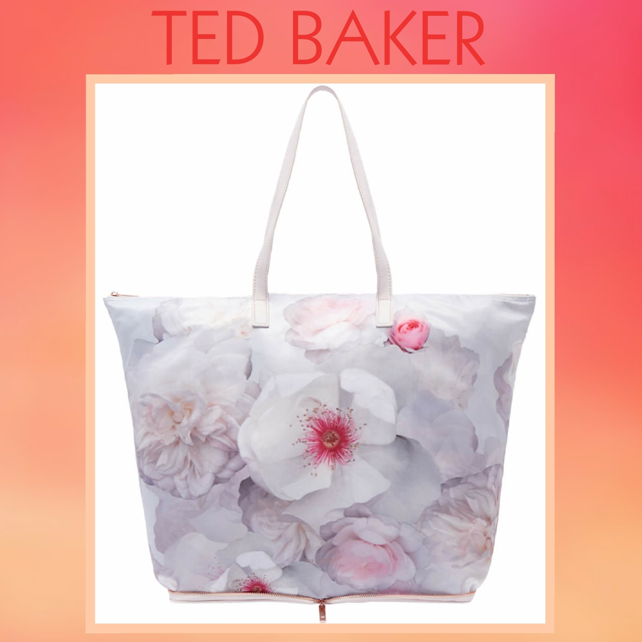 ★TED BAKER★折り畳み コンパクト ショッパー バッグ