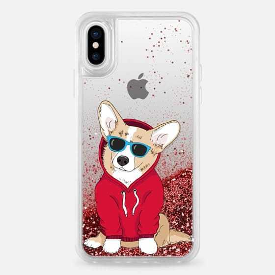 Casetify*iPhoneX,iPhone8 ケース*グリッター6色/dogs