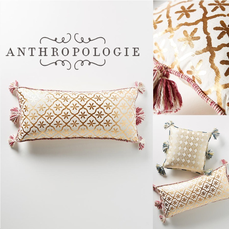 【Anthropologie】*モロッカンプリントクッション*送関込み