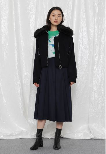 日本未入荷 ROCKET X LUNCHのR FUR COLLAR ジャンパー