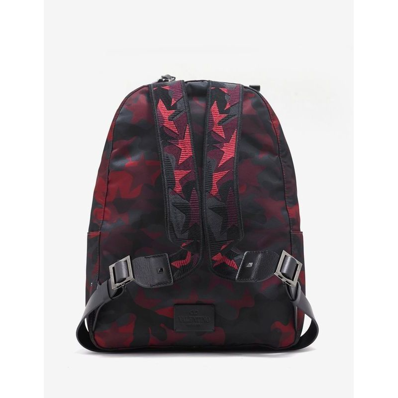 先取りVIP SALE★VALENTINO★Red & Black バックパック