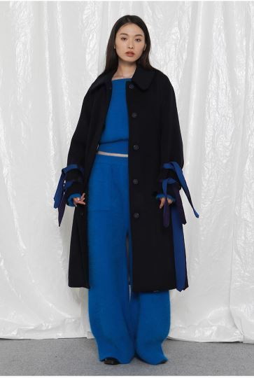 日本未入荷 ROCKET X LUNCHのR DOUBLE BELTS DETAIL COAT
