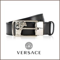 関送込【VERSACE COLLECTION】91205レザーベルト/Black Smooth