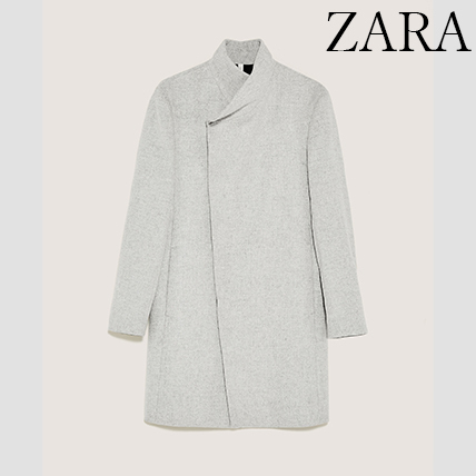 ●ZARA●冬新作♪LIGHT GREY COAT