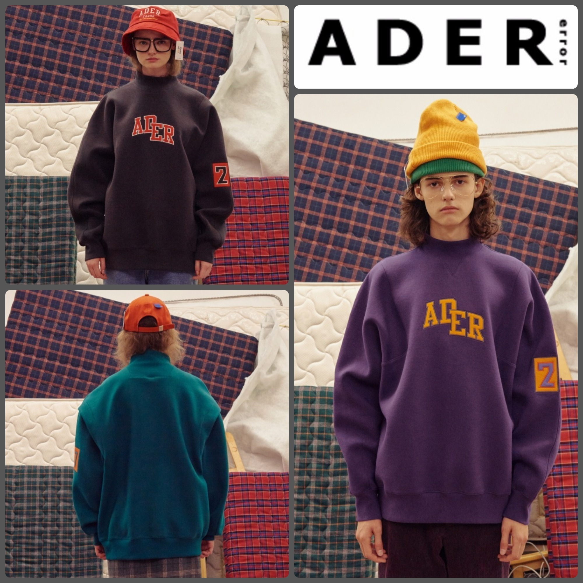 【ADERERROR】正規品★UNISEX BILLY S スウェット 3色/追跡付