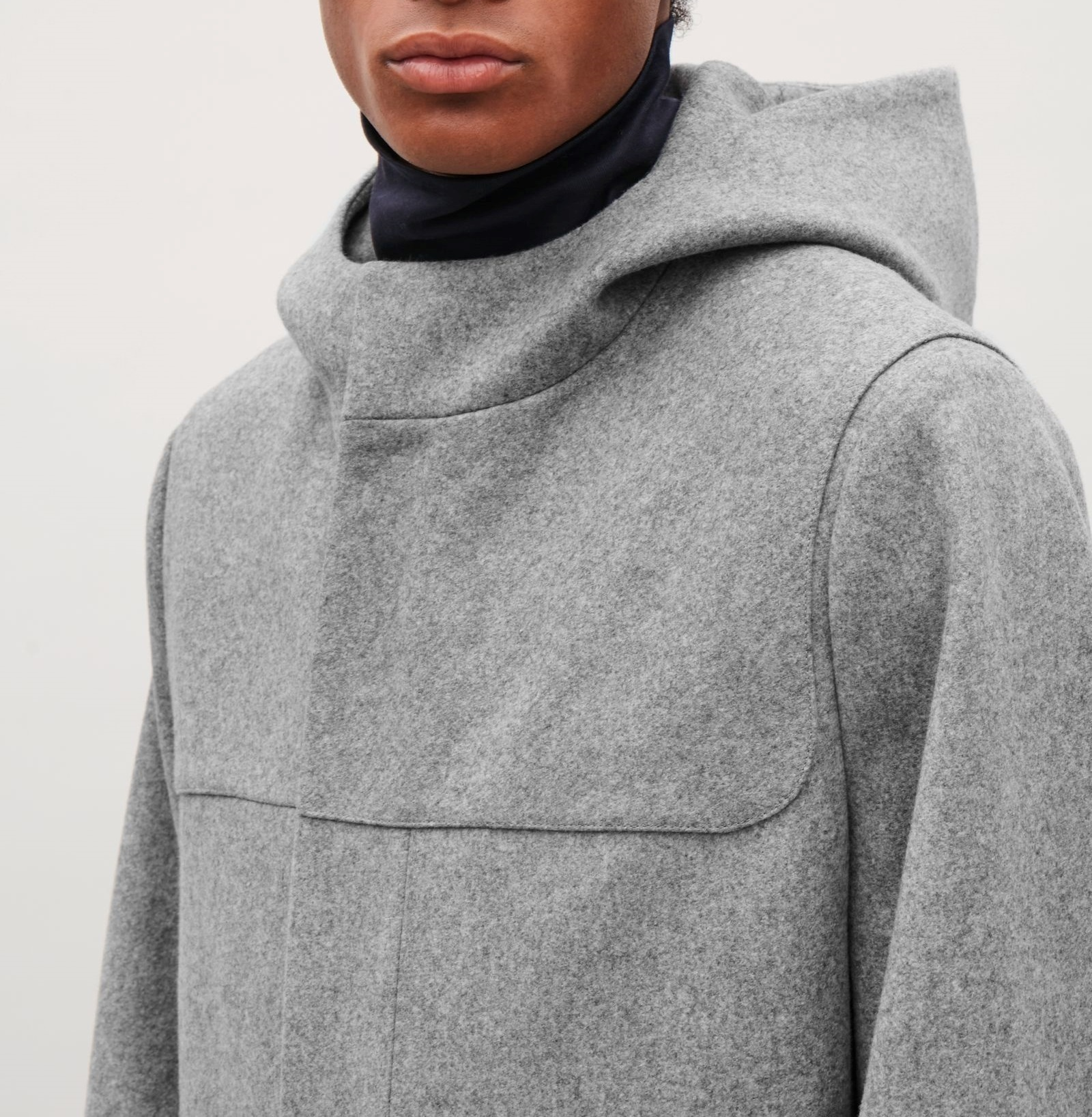 """COS MEN""WOOL DUFFLE COAT GRAY"