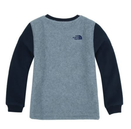 (ザノースフェイス)K'S DOUBLE FLEECE L/S R/TEE GRAY NT7TI62S