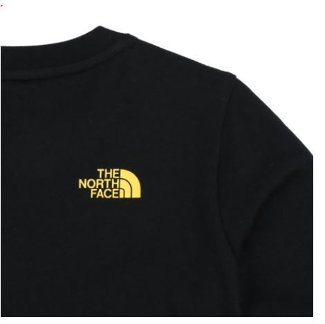 (ザノースフェイス) K'S GRAPHIC L/S R/TEE BLACK NT7TI58V
