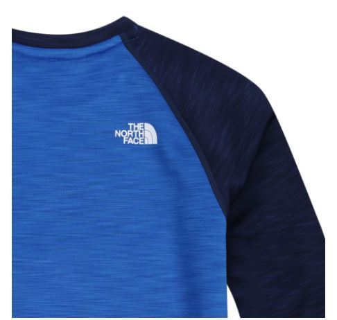 (ザノースフェイス)K'S TECH ALL DAY SWEATSHIRT BLUE NT5MI51T