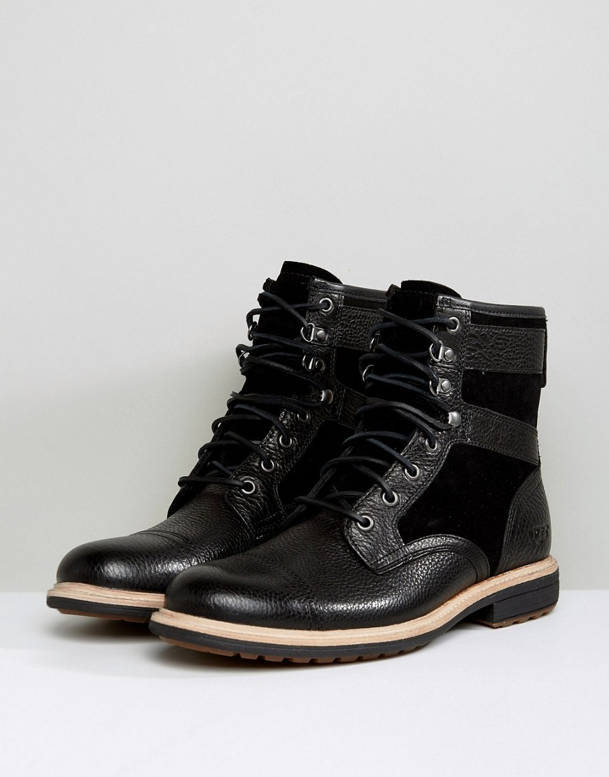 UGG Magnusson Treadlite Leather Lace Up Boots