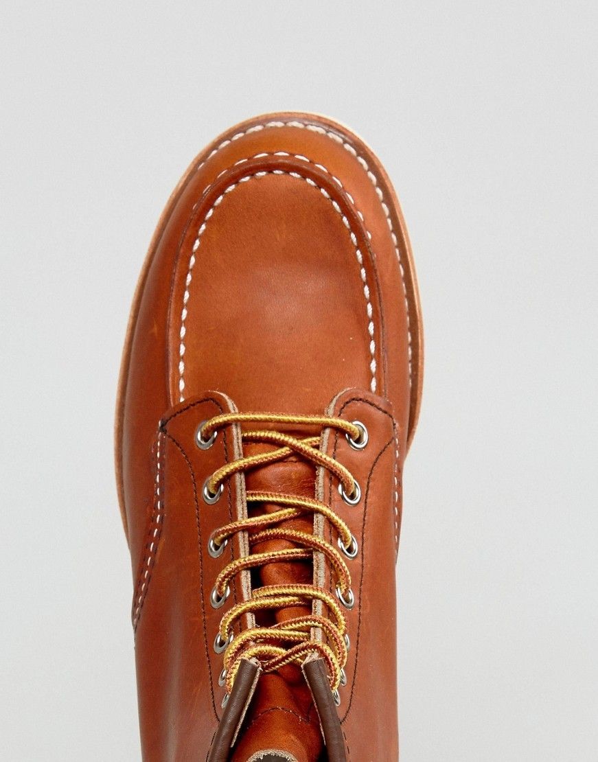 Red Wing 6 Inch Classic Moc Toe Leather Boots In Briar Oil