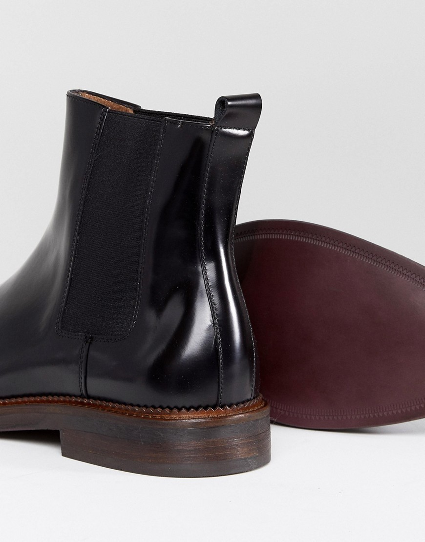Zign Smart Leather Chelsea Boots In Black