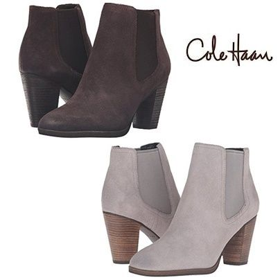 SALE★COLE HAAN スエードブーティ Hayes Gore Bootie★