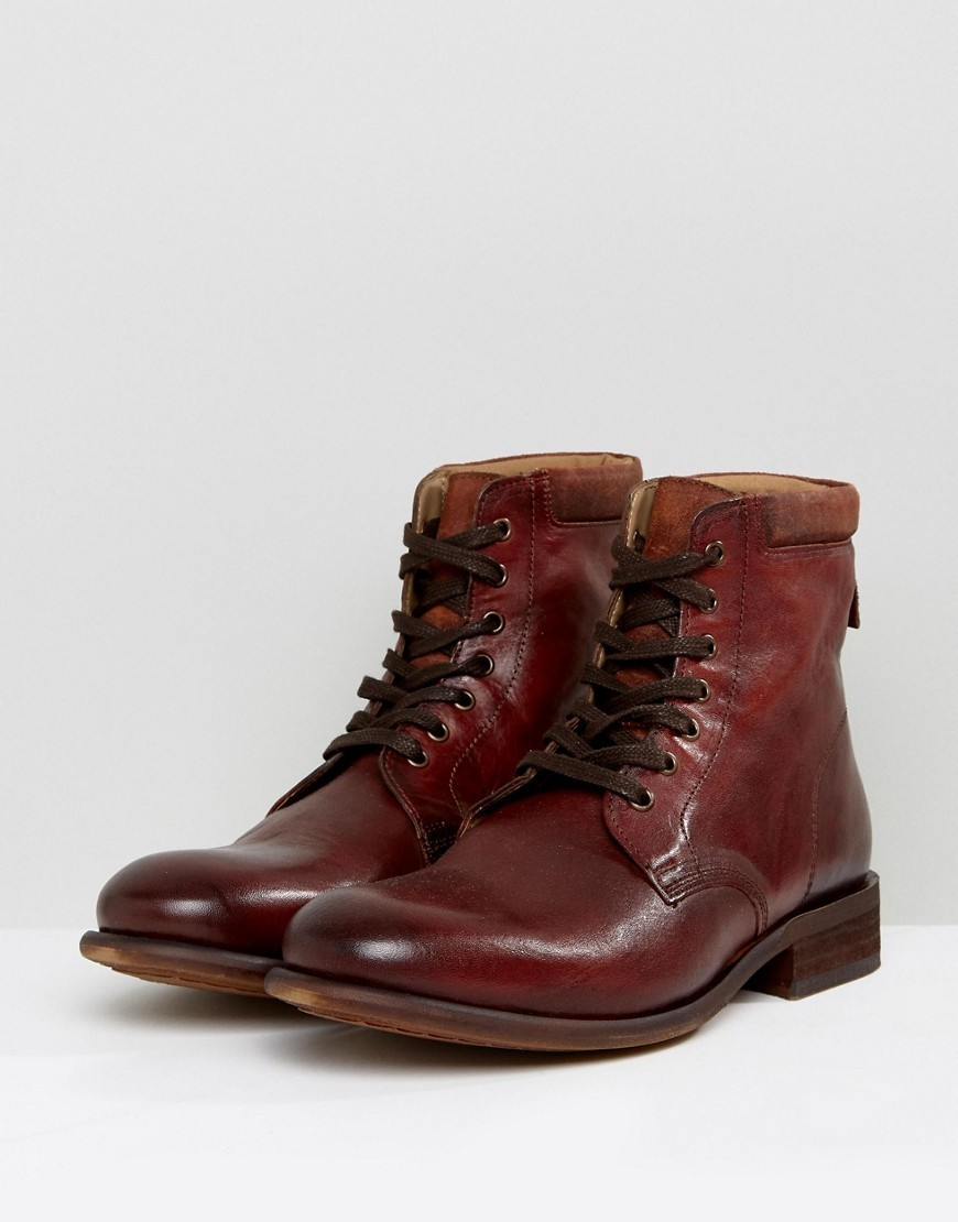 ALDO Derrian Leather Lace Up Boots In Brown