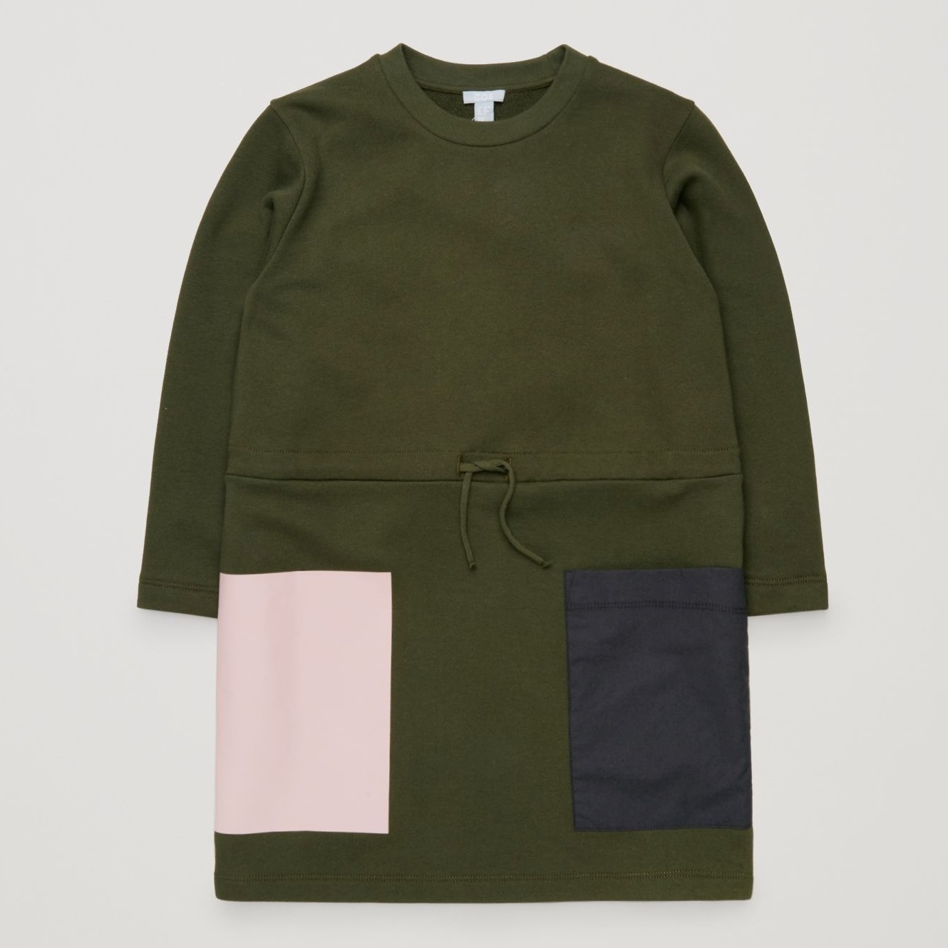 """COS KIDS""JERSEY DRESS WITH OVERSIZED POCKET KHAKI"