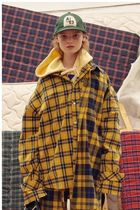 【ADERERROR】[unisex] Other check shirt  Yellow