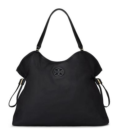 Tory Burch トートバッグ 最新TORY BURCH★ NYLON SLOUCHY TOTE /BLACK/48600円