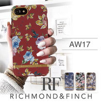 17AW 新作 iPhone8/7/6/6s RICHMOND&FINCH♡ 花柄 チェック
