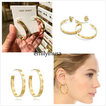Tory Burch★Dipped Pierced-T Hoop Earrings ピアス*GOLD