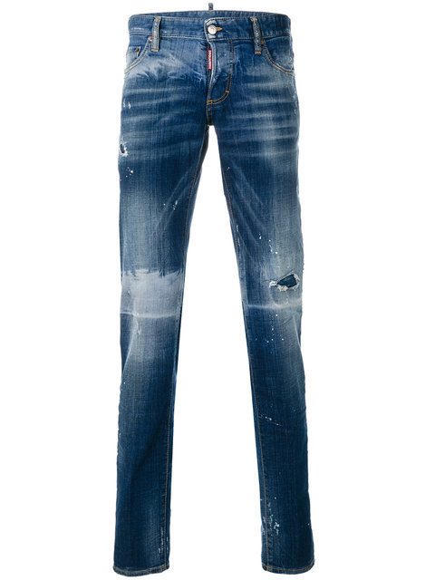 【送関込】17-18AW☆Dsquared2 ☆jean slim a effet use デニム