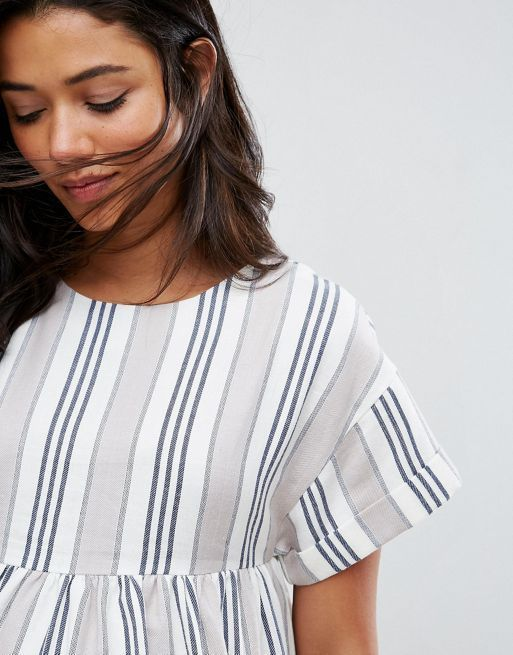 ☆ASOS Maternity Stripe Short Sleeve Smock Dress☆