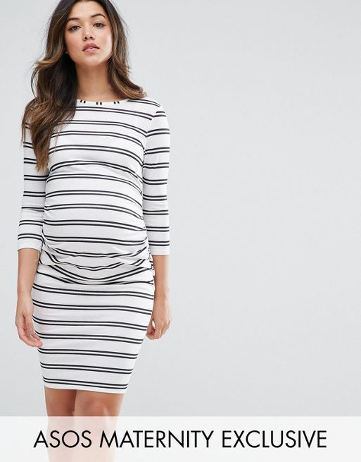 ☆ASOS Maternity Twin Stripe Bodycon Dress☆