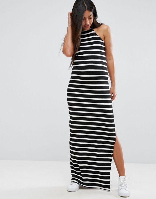 ☆ASOS Maternity High Neck Maxi Dress in Stripe☆