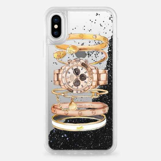 Casetify*iPhoneX,iPhone8 ケース*グリッター6色/watch