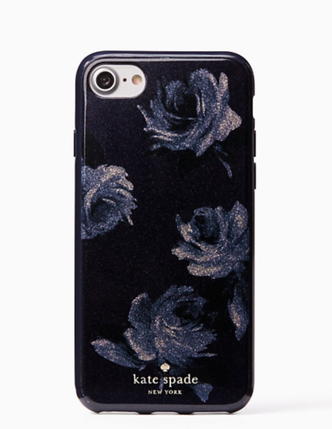 【kate spade new york】night rose glitter iphone 7/8 case