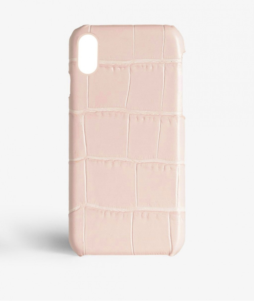 THE CASEFACTORY iPhone X用CROCODILE POWDER SHINY送料税込み!