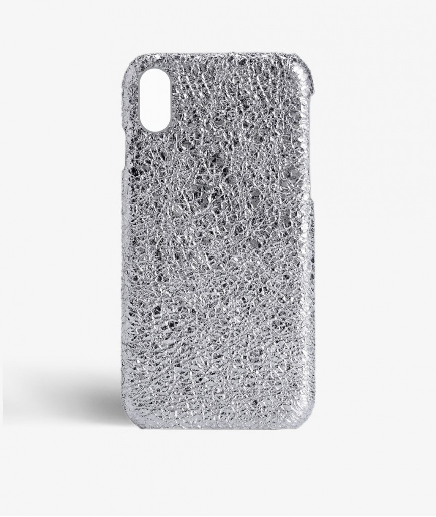 THE CASEFACTORY iPhone X用CRUSHED METALLIC SILVER送料税込み