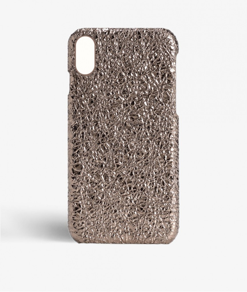 THE CASEFACTORY iPhone X用CRUSHED METALLIC ROSE送料税込み!