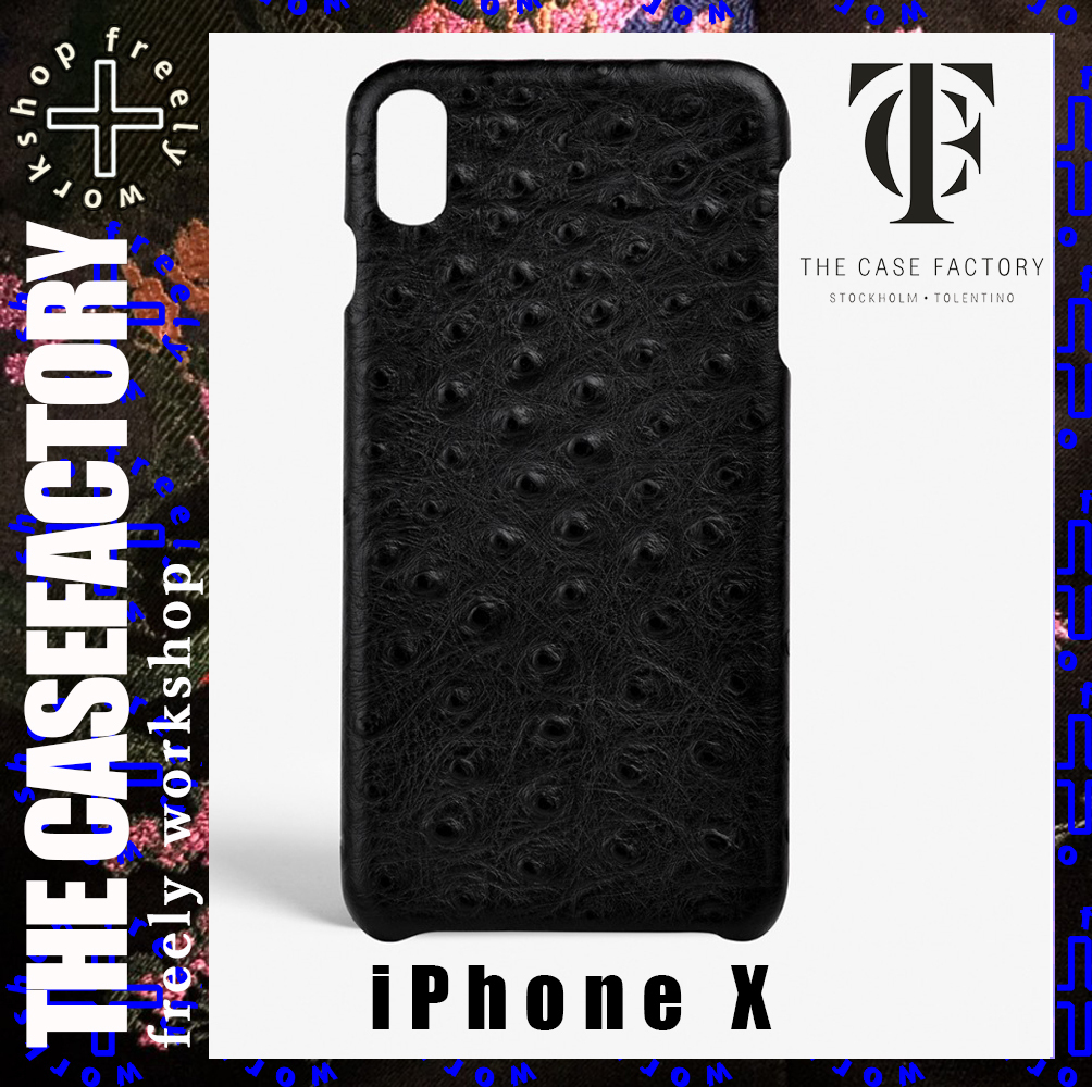THE CASEFACTORY iPhone X用OSTRICH BLACK送料税込み!