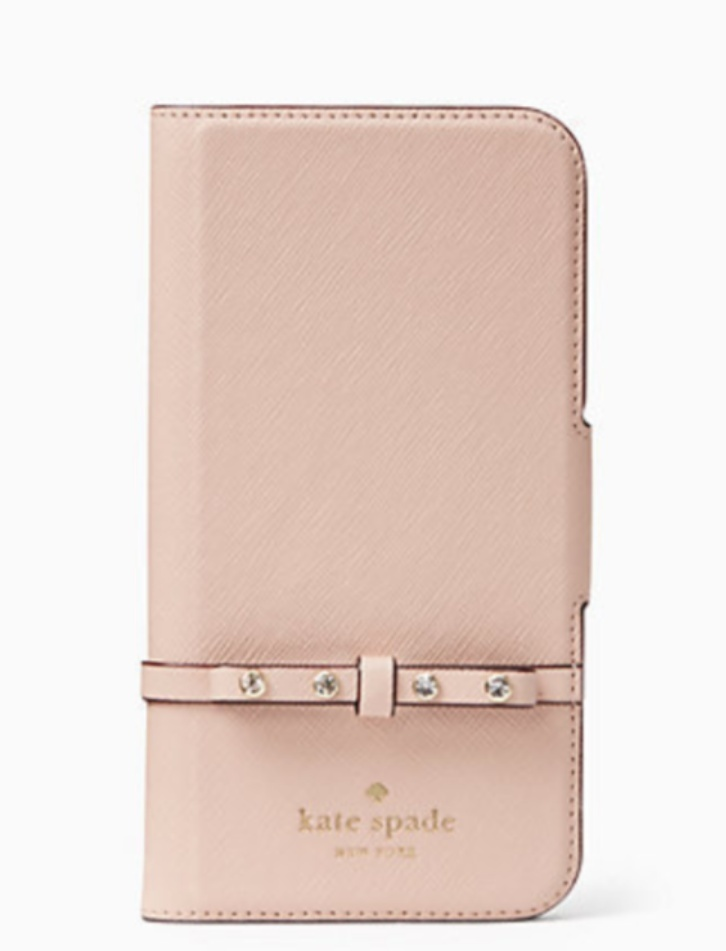 【kate spade new york】 elliott street folio iphone x case