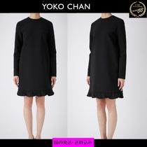 すぐ届く【YOKO CHAN 】Long-sleeve Petal Dress / 長袖