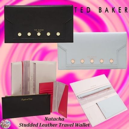 TED BAKER☆Natacha Studded Leather Travel Wallet 海外旅行に!