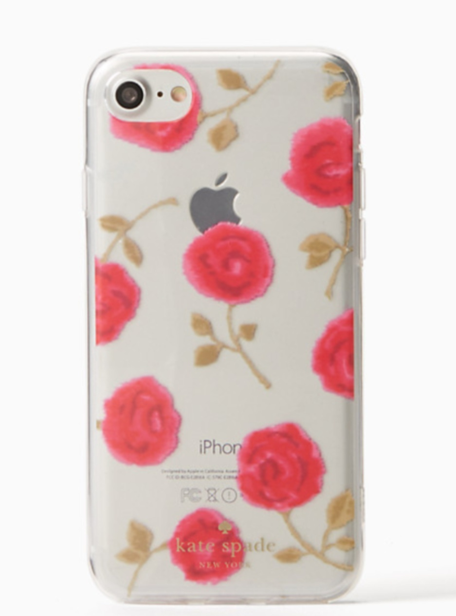 【kate spade new york】 hazy rose clear iphone 7/8 case