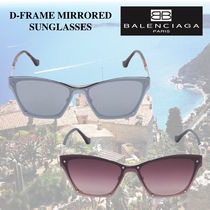 大人気☆BALENCIAGA D-FRAME MIRRORED SUNGLASSES♪