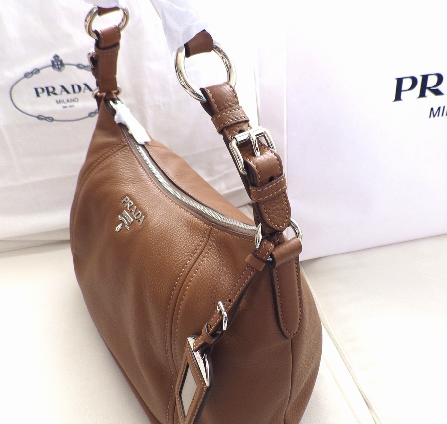 即発 PRADA BR5096 VITELLO PHENIX CANNELLAキャメル ショルダー