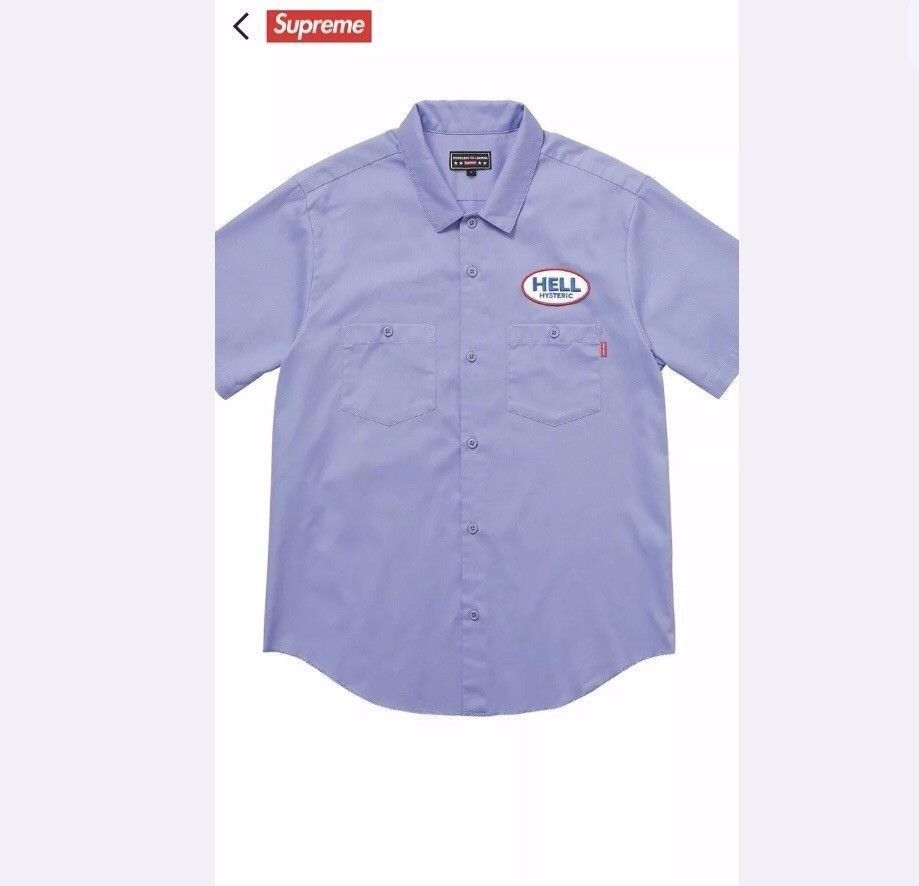 Supreme/Hysteric Glamour S/S Blue Work シャツ L 即発送